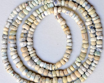 24 Inch Strand of 4mm-6mm Old Excavated Glass Beads - African Trade Beads