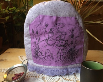 Purple Floral Tea Cozy