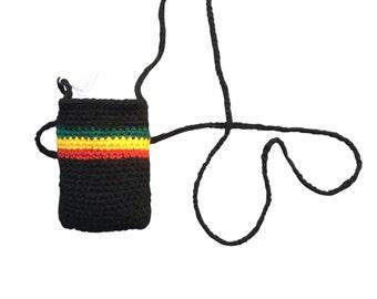 Cool hand crocheted purse /card holder pouch RLW204