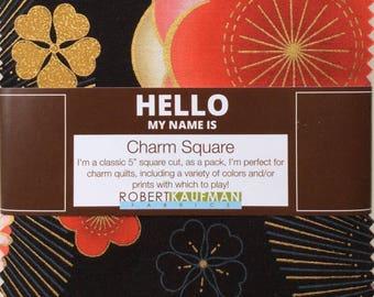 Robert Kaufman  Charm Square, Satsuki Blossom, Charm Pack, Charm Squares, Satsuki Charm Pack, Robert Kaufman Charm Pack, Pre-Cut Fabric