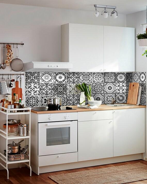 Sticker set mexican tile tile stickers decorative tiles for Stickers para azulejos cocina