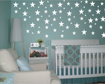 Star Wall Decals, Nursery Wall Decals, Confetti Star Decals, Star Wall Stickers, Baby Room Decor, Star Stickers, Peel and Stick Decals Stars
