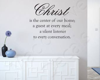 Christ Is The Center Vinyl Wall Decal Quote Scripture