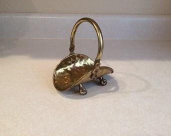 Miniature Hammered Brass Basket