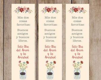 Separadores de libros para regalar en San Valentín SPANISH ***INSTANT DOWNLOAD***