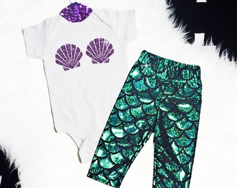 Baby Girl Mermaid Outfit Baby Girl Clothes Mermaid Baby