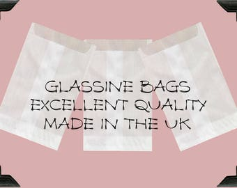 GLASSINE BAGS   (75mm x 102 mm + 16 mm flap) x 25