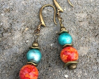 Boho Earrings, Beach Earrings, Dangle Earrings, Unique Earrings, Earrings