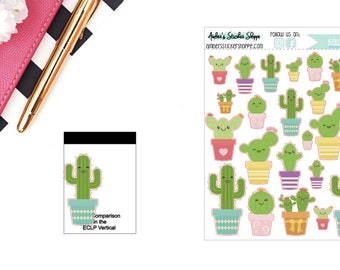 Kawaii Cacti Sticker for any Planner