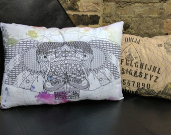 Geometric Elephant Cushion