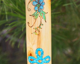 Couples gift wedding gift boyfriend gift girlfriend personalized hiking stick with turquoise inlay gift for hercustomized walking stick wood negle Image collections