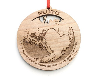 Pluto Christmas Ornament - We still love you Pluto, even if you aren't a Planet - Pluto Dwarf Planet Christmas Ornament Astronomer Gift