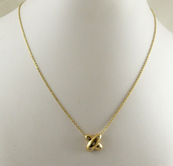 Diamond 0.08ct Pendant With 14K Yellow Gold Chain,18 Inches Long