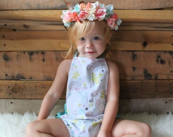 Boho feather  crown / flower crown / boho / baby flower crown / feathers and flowers crown