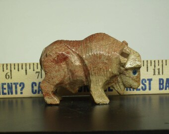 Vintage Agate Buffalo Figurine S#3
