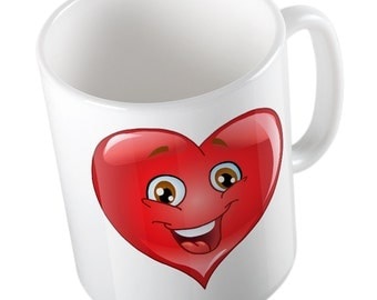 Emoji Red Heart mug