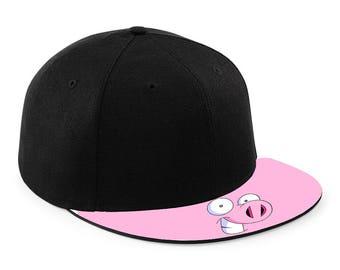 Pig Face Snapback Cap