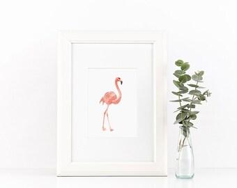 Flamingo art print - art print A5 -