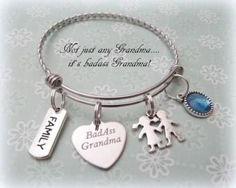 Grandmother Gift, Grandma Gift Bracelet, Grammie Jewelry, Jewelry for Grandmother, Nana Gift Charm Bracelet, Gift for Grandma