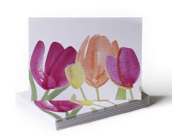 Spring Tulip Garden Just Because Greeting Card