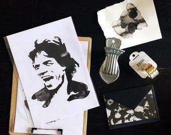 Mick Jagger Inkling print
