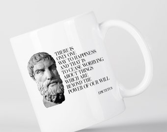 There is Only Way to Happiness Quote Epictetus Ancient Greek Philosopher Mug M1342