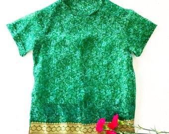 Emerald Frill Shirt
