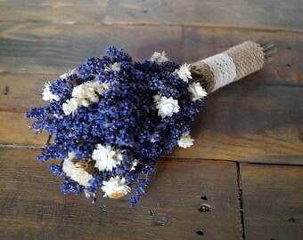 Lavender wedding lavender bouquet lavender wildflowers wedding bouquet lavender bouquet diers dried flowers provence decor for bridesmaid