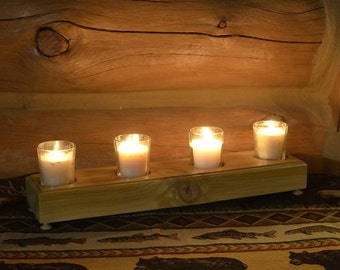 White Cedar Votive Candle Holder
