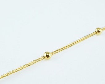 New Gold Filled Chain 18K Ball Size 3mm Chain Size 1mm for Jewelry Making GFC45 Sold by Foot