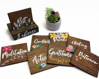 Affirmation Cards.Office Desk Accessory.Today I choose.Gratitude Journal.Daily Intention. Daily Planner. Montessori homeschool tools.