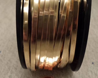 14/20 Yellow Gold-Filled Bezel Wire 1/8 Inch 26 Gauge 1 or 2 Feet Dead Soft USA Made