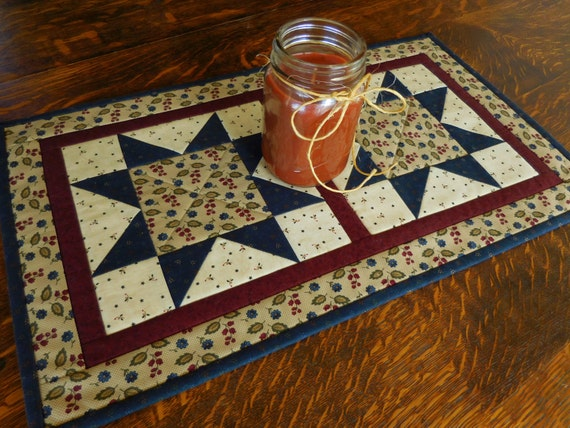 quilted table runner star pattern small quilt in by