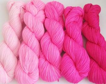 Pink Gradient Yarn Set