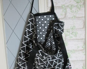 Pocket zipper black pips long handle