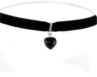 Onyx Heart Necklace