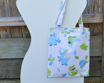 Blue Animals 'Francis' Library Bag