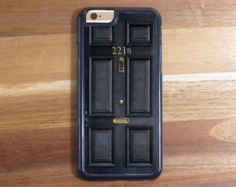 Sherlock Holmes 221B Baker Street Front Door Case Design For iPhone 4/4s, 5/5s, 5c, 6/6s, 6/6s Plus, 7 or 7 Plus Samsung S4 S5 S6 S7 Edge