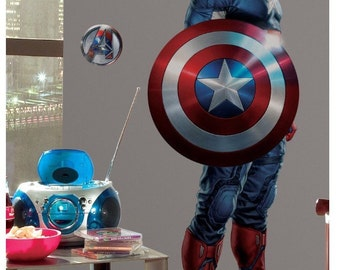 Marvels captain america birthday/bedroom stick and peel wall decal