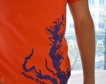 Orange Maryland Purple Bay Crew Neck Tee