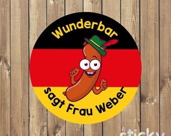Personalized German Teacher Stickers, Deutsch Stickers, Reward Stickers, School Stickers, German Stickers, Teacher Gift Custom Stickers