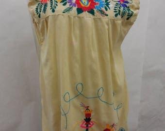 Vintage Urban Renewal Embroidered Shift Dress M/L