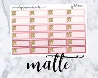 Gold Rose (MATTE) Glitter Appt Boxes