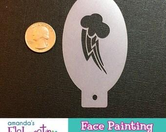 MLP RAINBOW DASH Cutie Mark - Face Painting Stencil (Mini)