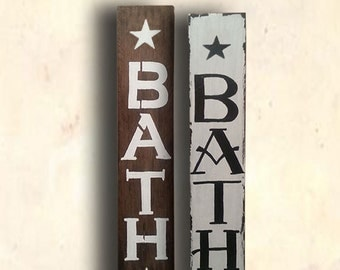 Bath Sign - Bathroom Wood Sign - Bathroom Decor Sign - Lavatory Sign - Rustic Bath Sign - Shaby Chic Bath Sign - Housewarming Gift Idea