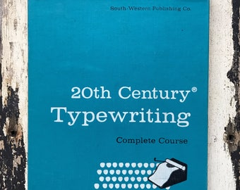 free domestic shipping-20th Century Typewriting Complete Course 1957