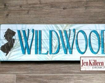 Jersey Shore Art / Wildwood or Wildwood Crest Sign / Jersey Shore Wood Sign / Wood Sign