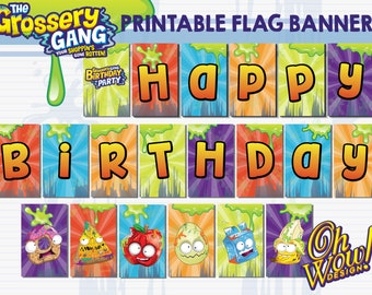 Grossery Gang Flag Banner Digital File