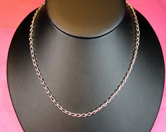 """Entirely Handmade Solid Sterling Silver 25"""" Curb Chain Necklace"""
