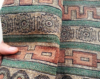 Aztec Jacquard Fabric   Ethnic Fabric   Tribal Fabric   Boho Fabric   Thick woven Fabric by the yard